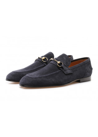 MEN'S SHOES FLAT SHOES SUEDE LOAFERS BLUE MANOVIA 52