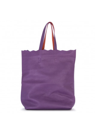 WOMEN'S BAGS SHOULDER / SHOPPER BAG HAND DYED LEATHER PURPLE JDK