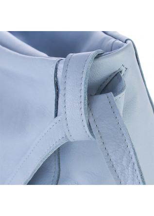 WOMEN'S BAGS SHOULDER BAG HAND DYED LEATHER LIGHT PASTEL BLUE JDK