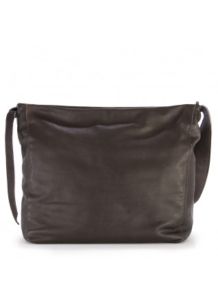 WOMEN'S BAGS SHOULDER BAG HAND DYED LEATHER DARK BROWN JDK