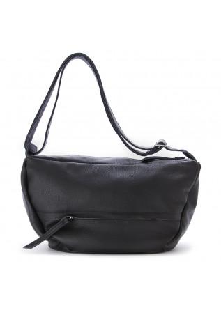 WOMEN'S BAGS SHOULDER BAG HAND DYED LEATHER BLACK JDK