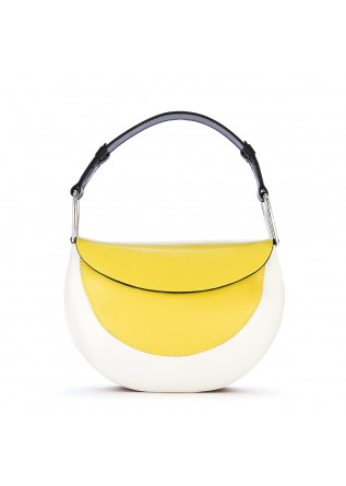 WOMEN'S BAGS SHOULDER BAG LEATHER PASTEL YELLOW WHITE GIANNI CHIARINI