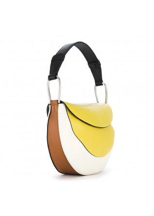 WOMEN'S BAGS SHOULDER BAG LEATHER PASTEL YELLOW WHITE GIANNI CHIARINI