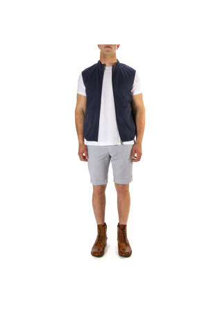 MEN'S CLOTHING VEST ECO FRIENDLY BLUE SAVE THE DUCK