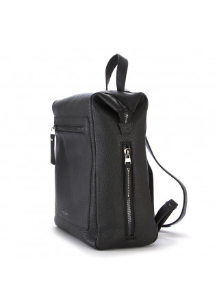 WOMEN'S BAGS BACKPACK IN HAMMERED LEATHER BLACK GIANNI CHIARINI