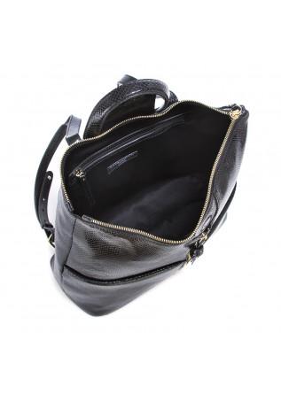 WOMEN'S BAGS BACKPACK POLISHED LEATHER BLACK GIANNI CHIARINI
