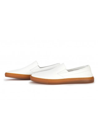 WOMEN'S SHOES SNEAKERS LOAFERS LEATHER WHITE MANOVIA 52