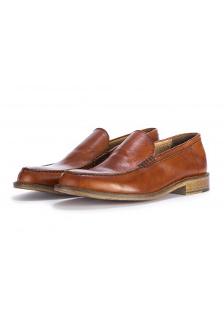 MEN'S SHOES FLAT SHOES LOAFERS GENUINE LEATHER BROWN TON GOUT