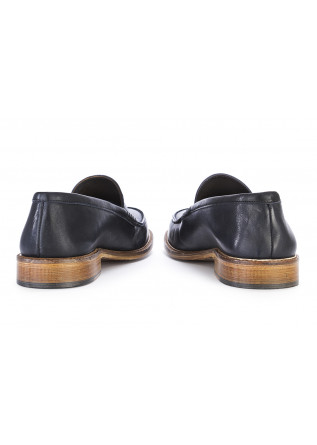 MEN'S SHOES FLAT SHOES LOAFERS LEATHER DARK BLUE TON GOUT