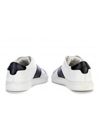 MEN'S SHOES SNEAKERS LEATHER WHITE BLUE NAVY DELAVE'
