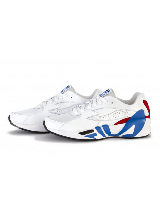 MEN'S SHOES SNEAKERS MAXI SOLE WHITE BLUE RED FILA