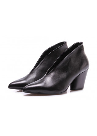WOMEN'S SHOES PUMPS LEATHER BLACK HALMANERA