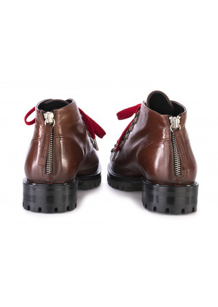WOMEN'S SHOES BOOTS LEATHER BROWN HALMANERA