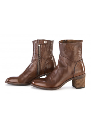 WOMEN'S SHOES BOOTS LEATHER CHERRY BROWN OFFICINE CREATIVE