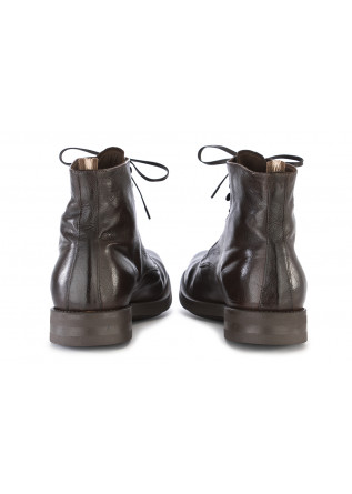 MEN'S SHOES BOOTS LEATHER DARK BROWN OFFICINE CREATIVE