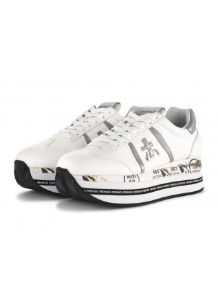 WOMEN'S SHOES SNEAKERS MAXI SOLE WHITE GREY PREMIATA
