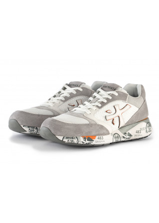 MEN'S SHOES SNEAKERS SUEDE LEATHER / TECHNICAL FABRIC WHITE BEIGE PREMIATA