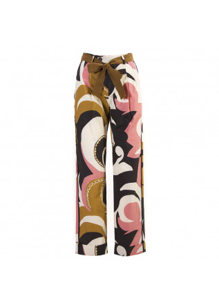WOMEN'S CLOTHING TROUSERS COTTON PINK MULTICOLOUR ALYSI