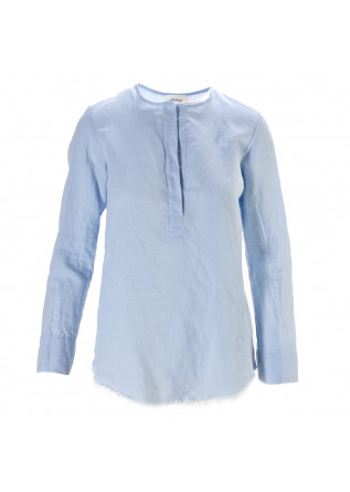 WOMEN'S CLOTHING SHIRT LINEN COTTON LIGHT BLUE OTTOD'AME