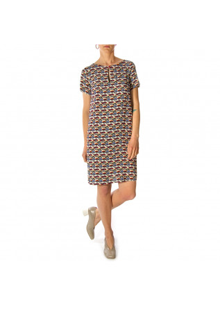 WOMEN'S CLOTHING DRESS TUNIC MULTICOLOR EYES PRINT OTTOD'AME