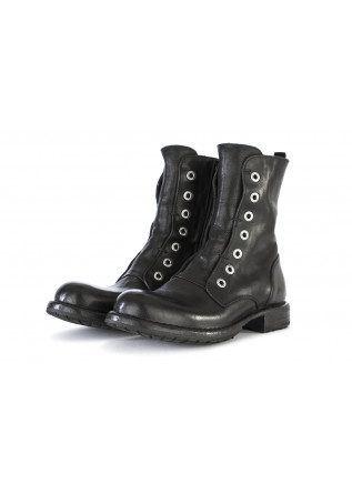 WOMEN'S SHOES BOOTS LEATHER HANDMADE BLACK MOMA