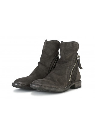 WOMEN'S SHOES BOOTS GENUINE SUEDE LEATHER DARK GREY MOMA