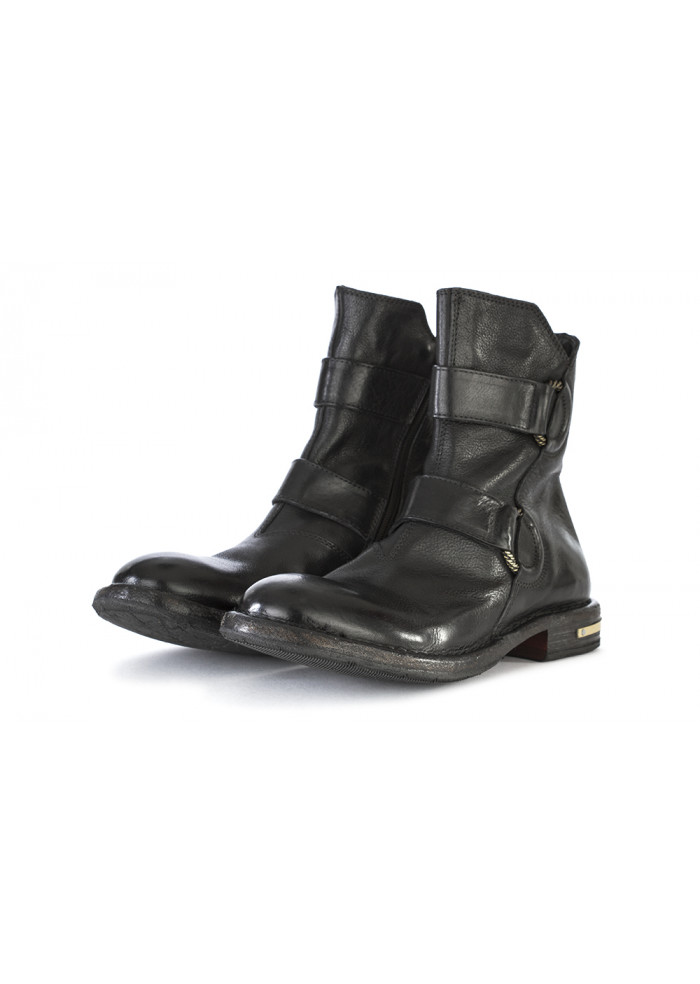 WOMEN'S SHOES BOOTS GENUINE LEATHER HANDMADE BLACK MOMA