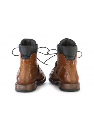 WOMEN'S SHOES BOOTS LEATHER HANDMADE BROWN BLACK MOMA