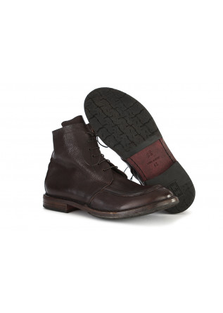 MEN'S SHOES ANKLE BOOTS LEATHER DARK BROWN MOMA