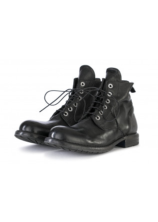 MEN'S SHOES BOOTS LEATHER HANDMADE BLACK MOMA