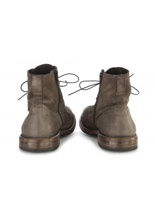 MEN'S SHOES BOOTS SUEDE LEATHER HANDMADE MUD BROWN MOMA