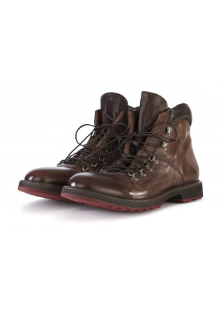 MEN'S SHOES BOOTS GENUINE LEATHER HANDMADE LEATHER COFFEE BROWN MOMA