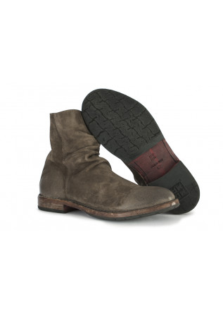 MEN'S SHOES BOOTS SUEDE LEATHER HANDMADE BROWN MOMA