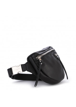 WOMEN'S BAGS FANNY PACK / POUCH NAPPA LEATHER BLACK GIANNI CHIARINI