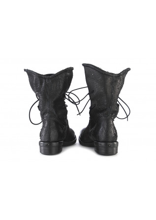 WOMEN'S SHOES BOOTS CARVED NUBUCK LEATHER BLACK REPKO