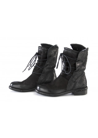 WOMEN'S SHOES BOOTS CARVED NUBUCK LEATHER BLACK REP-KO