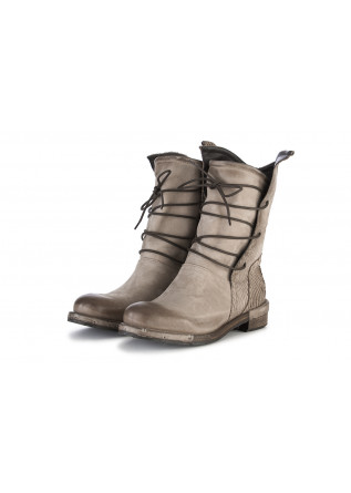 WOMEN'S SHOES BOOTS CARVED NUBUCK LEATHER BEIGE REPKO