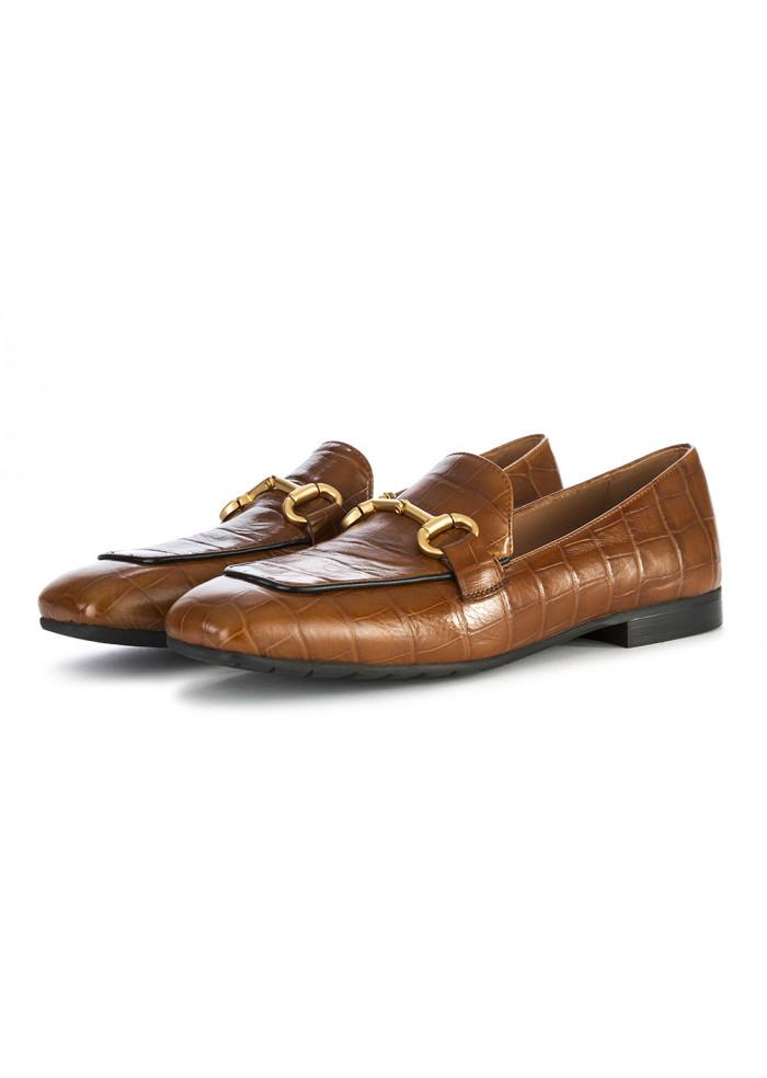 Women S Shoes Moccasins Genuine Leather Cognac Brown Mara Bini