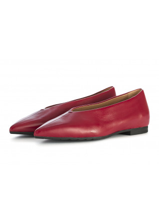 WOMEN'S SHOES BALLERINAS LEATHER CHERRY RED MARA BINI