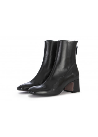 WOMEN'S SHOES BOOTS NAPPA LEATHER BLACK MARA BINI