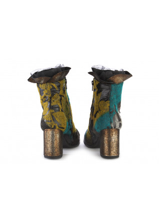 WOMEN'S SHOES BOOTS LEATHER BLACK / YELLOW / EMERALD / GOLD PAPUCEI