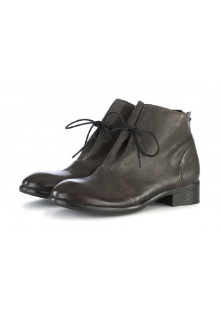 WOMEN'S SHOES ANKLE BOOTS GENUINE LEATHER GREY KOBRA