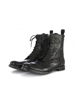 MEN'S SHOES ANKLE BOOTS GENUINE LEATHER BLACK TON GOUT