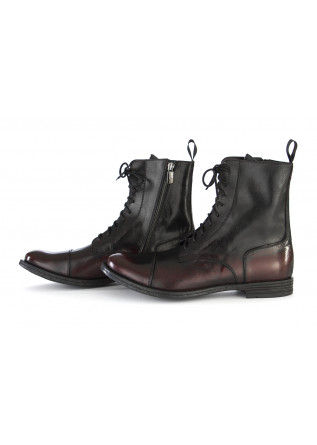 MEN'S ANKLE BOOTS TON GOUT   GENUINE LEATHER BLACK DARK RED