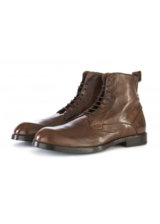 MEN'S SHOES ANKLE BOOTS LEATHER COGNAC BROWN DELAVE'