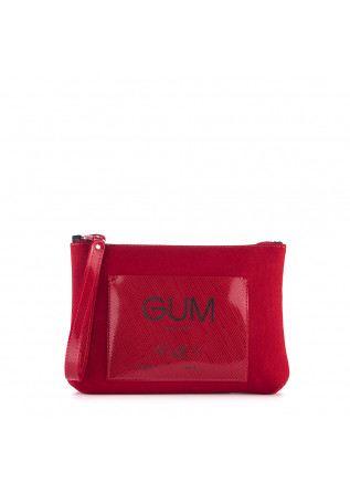 WOMEN'S BAGS CLUTCH / WRISTLET WATERPROOF CARMINE RED GUM CHIARINI
