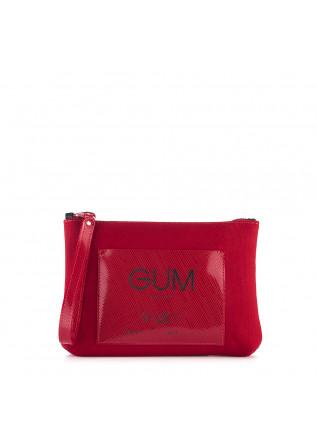 WOMEN'S BAGS CLUTCH / WRISTLET WATERPROOF CARMINE RED GUM CHIARINI