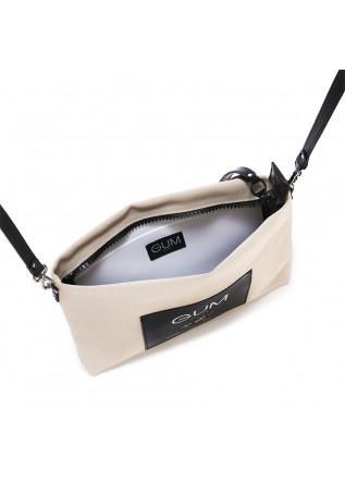 WOMEN'S BAGS POCHETTE / WRISTLET WATERPROOF BEIGE BLACK GUM CHIARINI