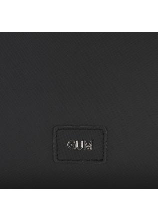 WOMEN'S BAGS CLUTCH / WRISTLET PVC BLACK / BLUE GUM CHIARINI