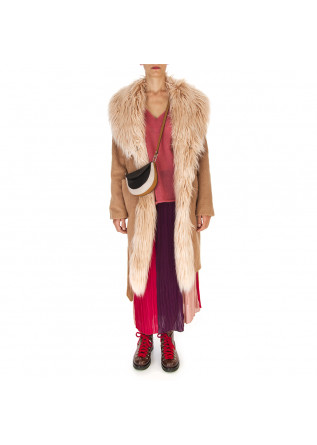WOMEN'S CLOTHING COAT BEIGE / CAMEL MENU DU JOUR